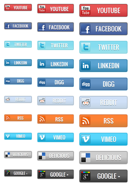 Social Bars - All Buttons