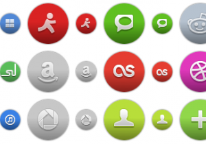 Colored Round Social Icons 2