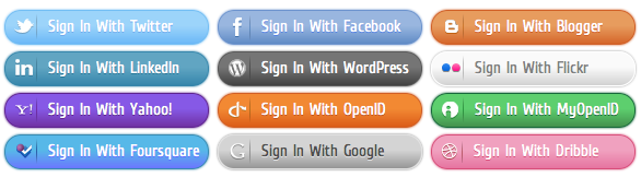Social Sign-In - All Buttons