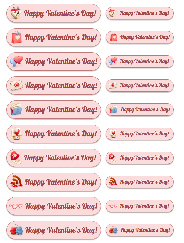 Happy Valentine's Day - All Buttons