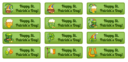 Happy St. Patrick's Day - All Buttons