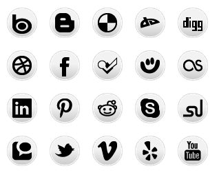 Simple Social Media - Circles - All Buttons