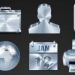 20 Metallic Icons