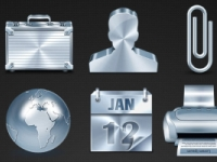 20 Metallic Icons
