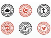 100 Social Media Stamps