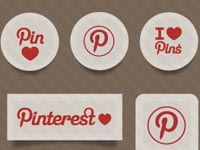 11 Pinterest Social Sticker Icons