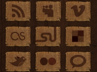 26 Woven Fabric Social Media Icons