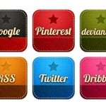 34 Retro Social Icons
