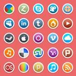 50 Circle Social Media Icons