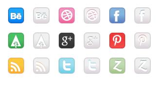 Modern Social Media Mix - All Buttons