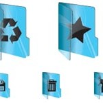 20 Glass Folder Icons