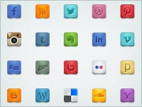 35 Simple and Elegant Social Media Icons