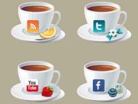 6 Social Teacup Icons