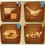 10 Wooden Social Icons
