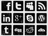 30 Vintage Social Media Icons