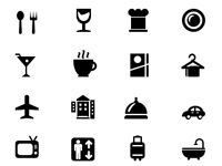 Free Icons: 20 Hotel and Restaurant Icons