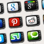 Free Icons: 20 Television Social Media Icons