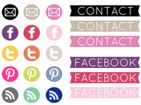 40 Social Icons by Beautiful Dawn Designs