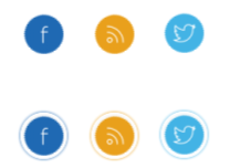 Hover Preview - Minimalistic Social Buttons