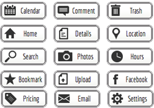 black-and-white-web-buttons