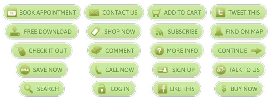 WordPress Buttons Pack - Green Call-to-Action Buttons
