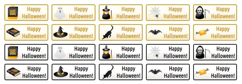 WordPress Buttons - Happy Halloween