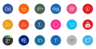 WordPress Buttons Pack - Minimalistic Social Buttons