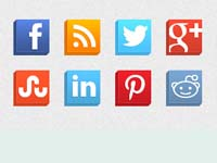 Free Icons: 16 Isometric Social Icons