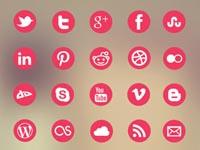 Free Icons: 20 Metro Social Icons