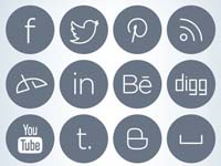 Free Icons: 20 Sleek Social Icons