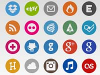 Free Icons: 30 Basic Social Icons