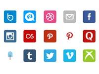 Free Icons: 30 Social Retina Icons