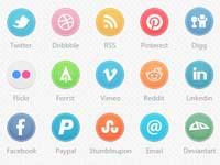 Free Icons: 35 Circle Social Icons