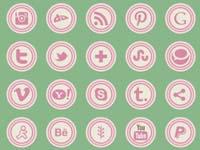 Free Icons: 47 Retro Social Icons
