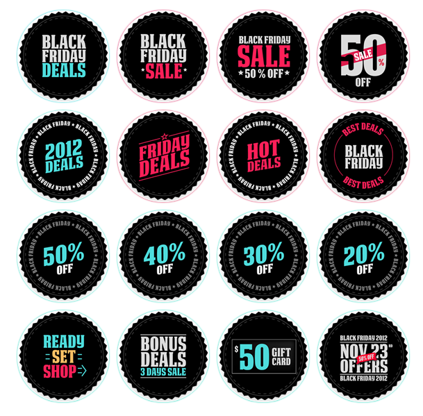 Black Friday Buttons - All Buttons