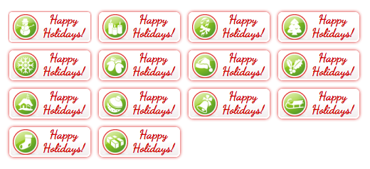 WordPress Buttons Pack - Happy Holiday Buttons