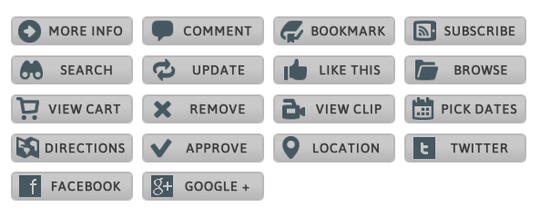 WordPress Buttons Pack - Grayscale Web Buttons