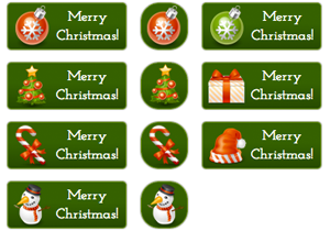 merry-christmas-buttons
