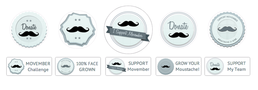Movember Badges - All WordPress Buttons