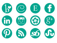 Free Icons: 19 Round Social Icons From Carrie