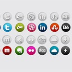 Free Icons: 40 Round Social Icons