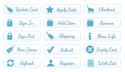Blue Tag E-Commerce Buttons - All Buttons