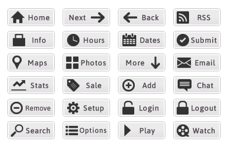 Compact Web Buttons - All Buttons