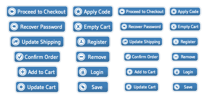WordPress Buttons Pack - Shopping Cart Blue