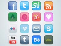 Free Icons: 16 Designer Social Icons