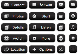 black-chrome-buttons