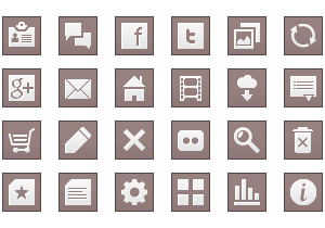 Simple Square Icon Buttons