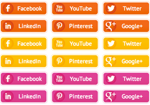 Sunset Social Buttons