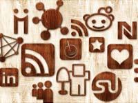 Free Icons: 108 Wood Social Icons
