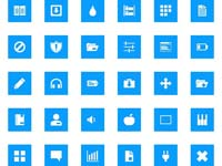 Free Icons: 200 Pixelistica Blue Icons